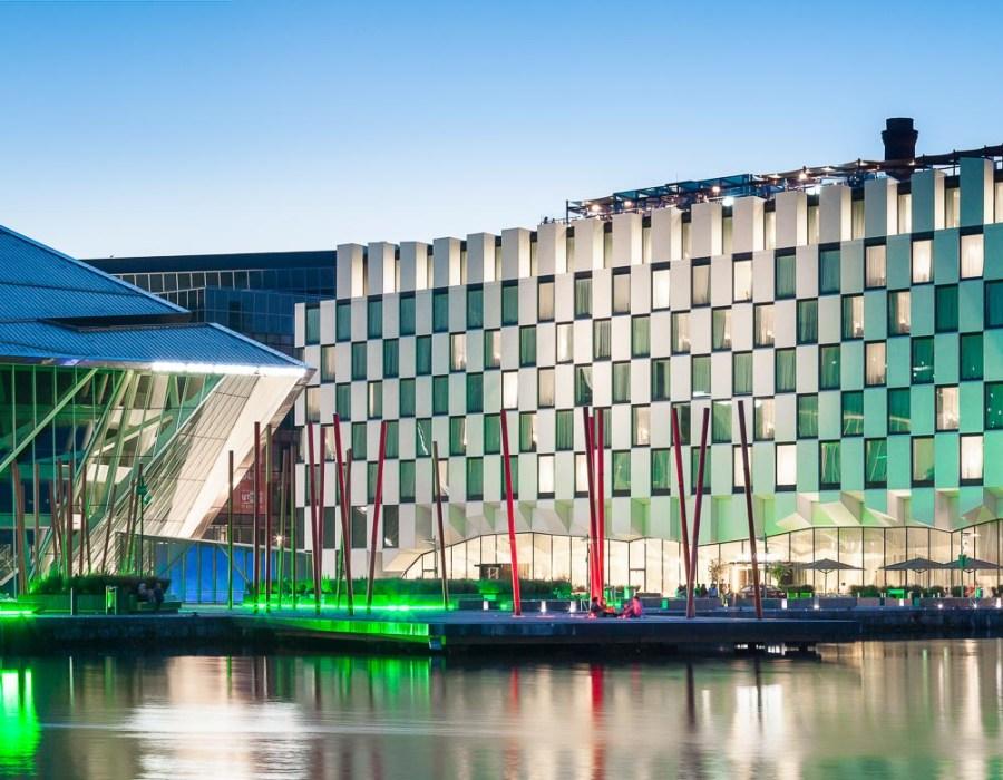 The Marker sijaitsee Docklands-alueella Dublinissa. © The Marker Hotel