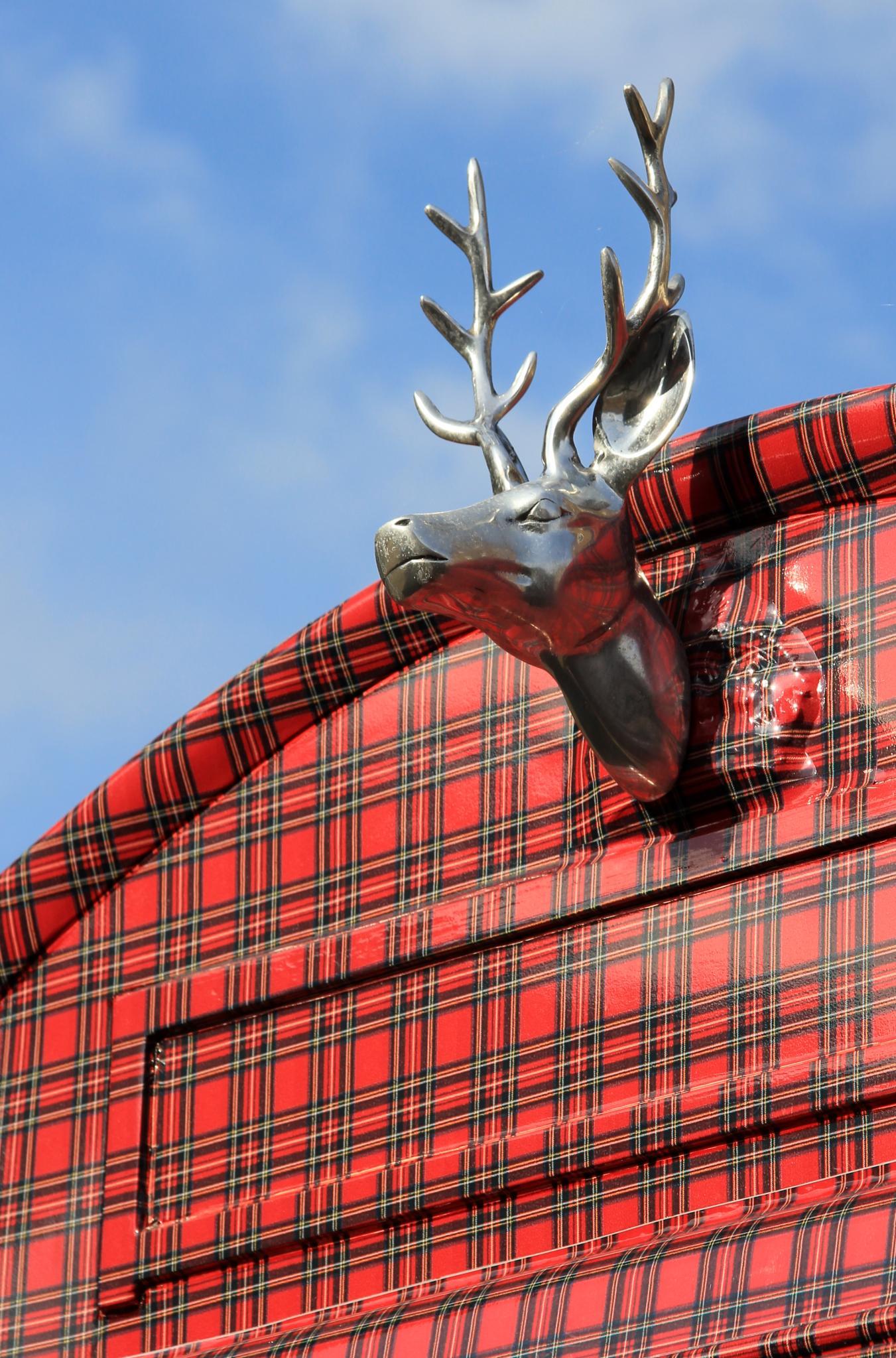 Royal Stewart -tartaanilla päällystetty postilaatikko Lontoossa. Kuva: Karen Roe, flickr.com, CC BY 2.0