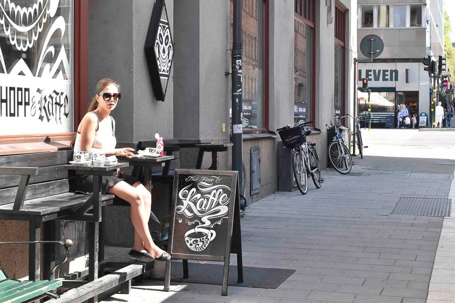 Tro Hopp & Kaffesta saa Johan & Nyströmin käsinpaahdettuja kahveja. Kuva: ©Soile Vauhkonen