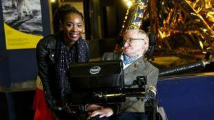 Prof. Stephan Hawking and Adaeze Uyanwah