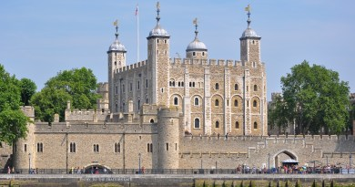 Tower of London viewed from the River Thames