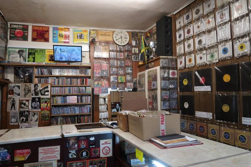 Inside Supertone Record Shop in Brixton