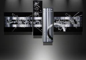 tableaux abstrait design triptyque eva