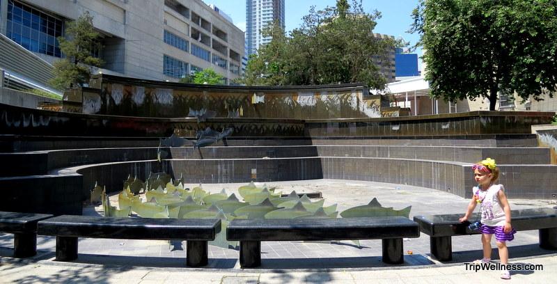 Downtown Toronto fountain.