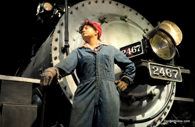 During WWII women took on many jobs on the railroad.  Capitol Corridor, trip wellness