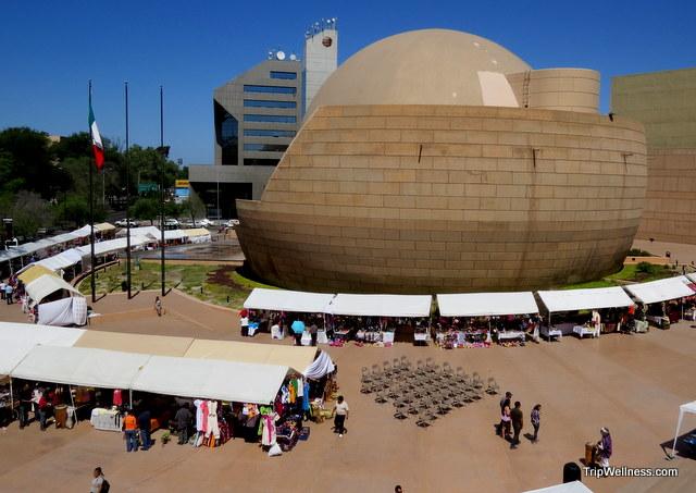 Tijuana Cultural Center, crossing to Tijuana