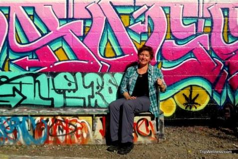 Graffiti rest stop in Petaluma