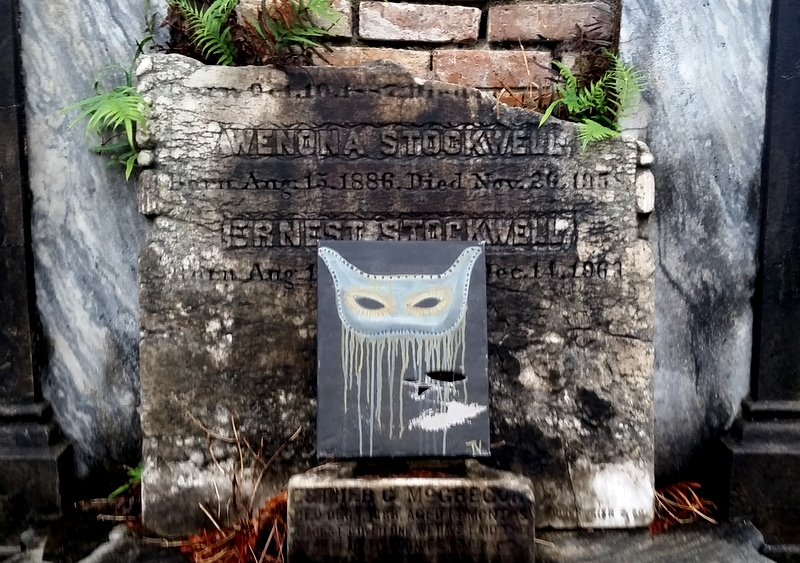 Gravestones are embellished through the ages, New Orleans cemetery.