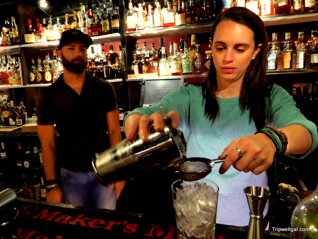Mixology class in the Stache Whiskey Den, Fort Lauderdale