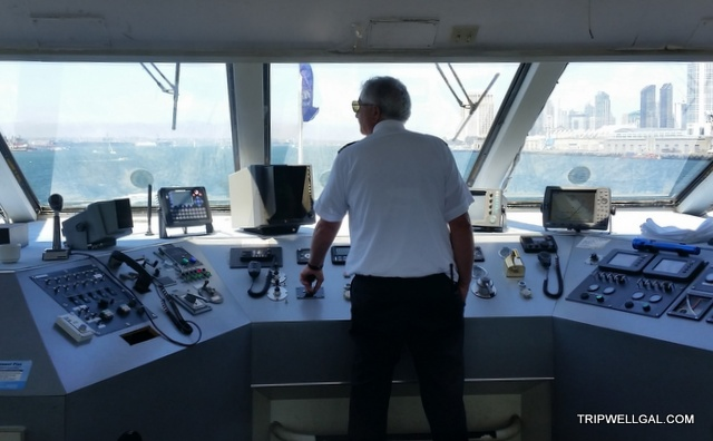 Captain working on the Sunday brunch cruise