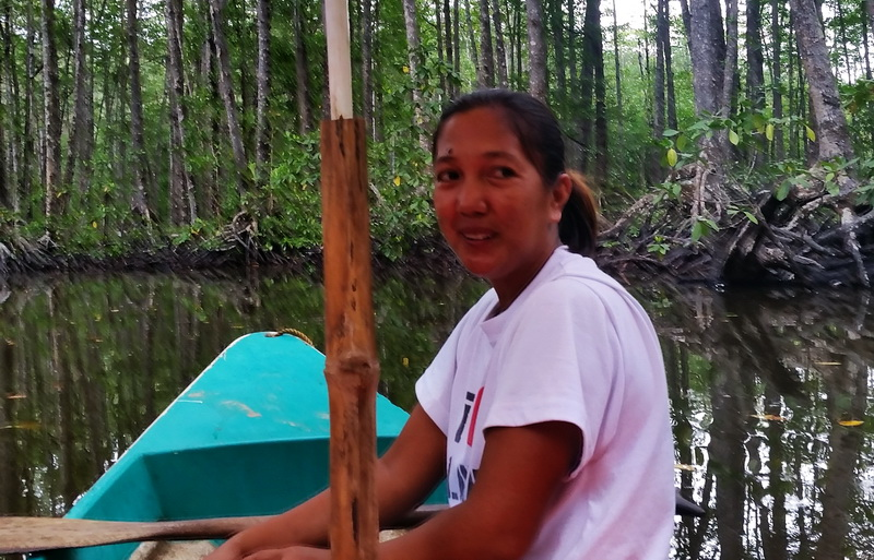 Mangrove river guide near Puerto Princesa