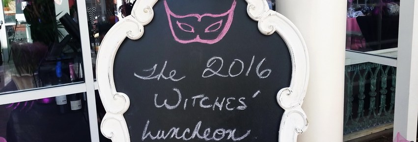 Attend a Halloween party witches luncheon