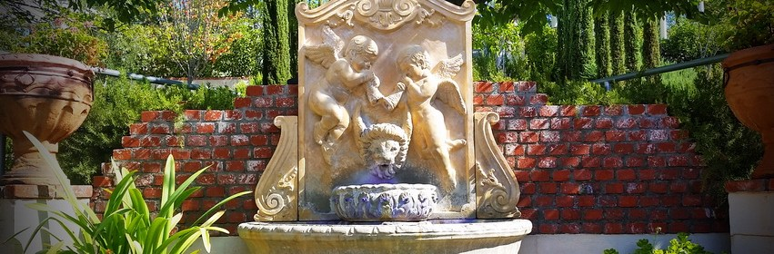 Mount Palomar Winery fountain one of the Temecula wineries worth visiting