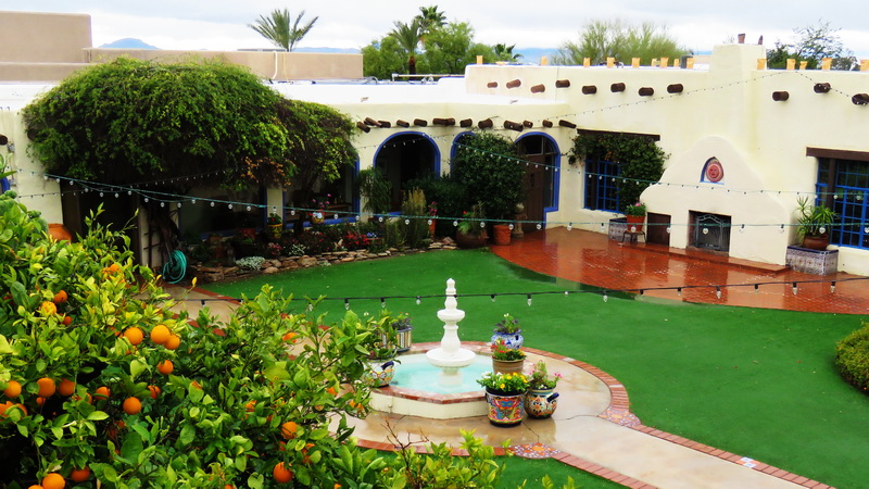 hacienda del sol luxury resort courtyard