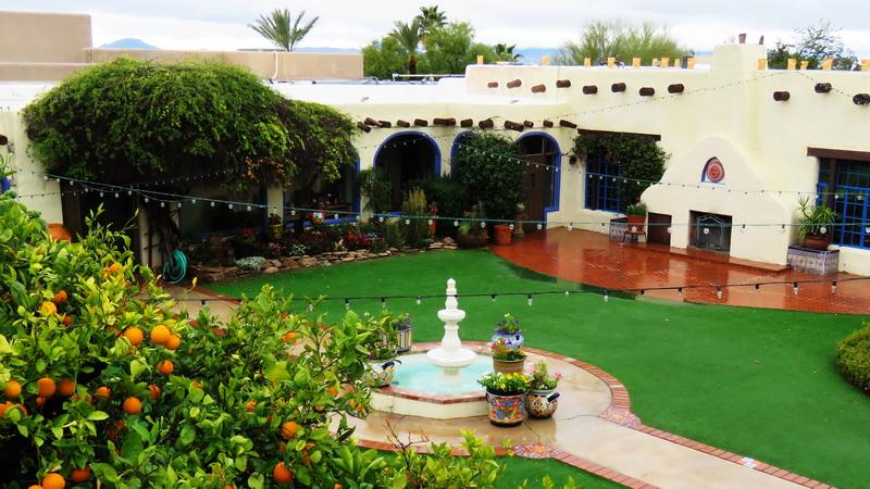 hacienda del sol luxury resort courtyard