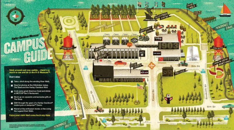 Harley Davidson Museum Campus Map