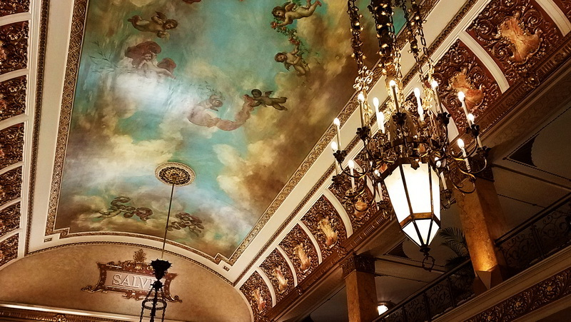The ceiling in the Pfister Building is part of the don't miss Milwaukee wonders