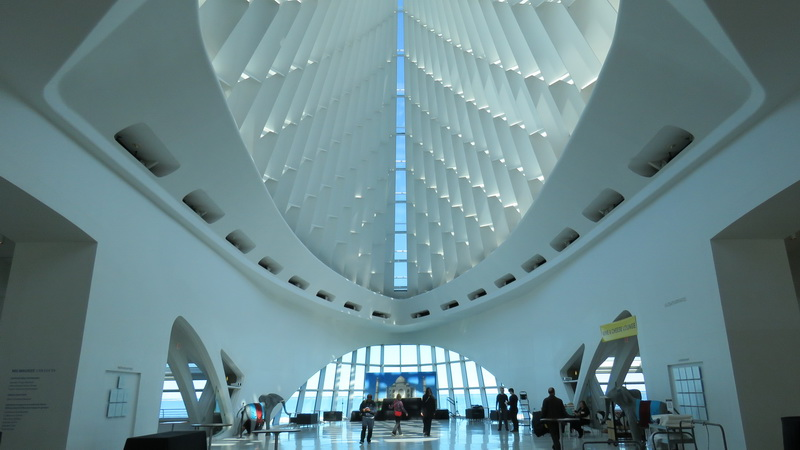 Inside the Milwaukee Art Museum