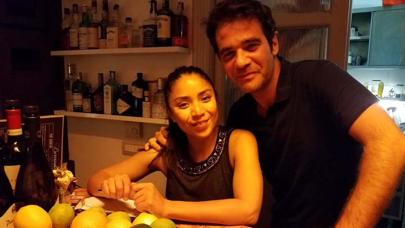 Owner, Alessandro Mattei and Annabel Sylva, in Rome's Bukowski Bar