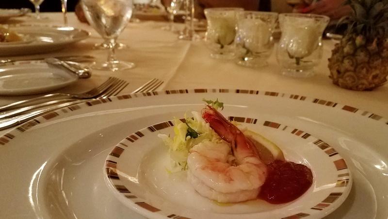 appetizer inside the Oak Room in the Pala Casino, my nearest casino resort
