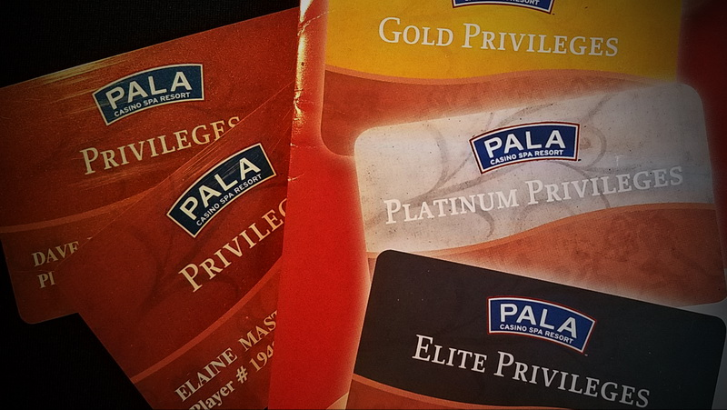 Privilage cards make it easy to rack up points and track your winnings in the Pala Casino