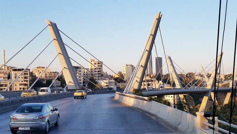 Bridge crossing while approaching Amman