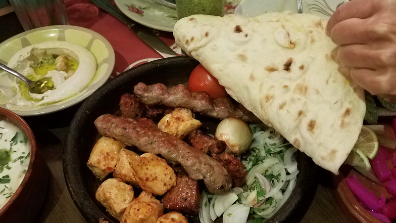 Inside Sufra Amman garden restaurant