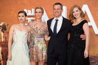 Kate Mara, Kristen Wiig, Matt Damon, Jesica Chastain©2015 David Dettmann