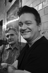 MIke-Carey-and-Mike-Perkins-Covent-Garden-London-WC2-18th-July-2015-grey-pic#1