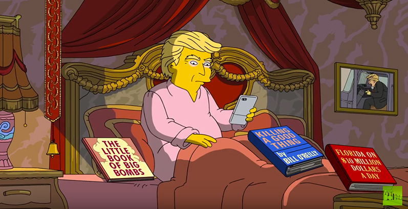 The Simpsons Commemorates 100 Days In Office For Donald Trump