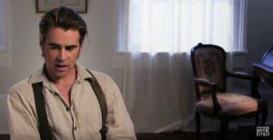On set with the beguiled star colin farrell tripwire for A painted devil thomas cullinan book