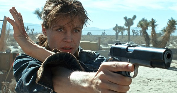 First Photos of Linda Hamilton In Terminator 6 Surface