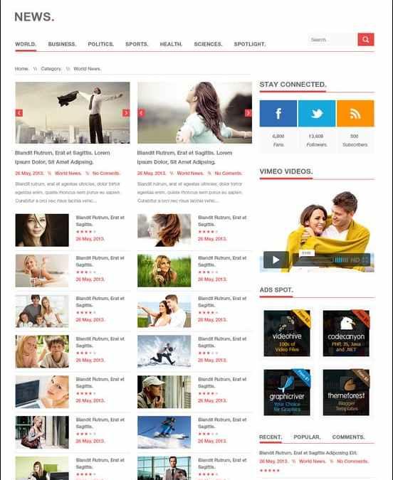 20+ Great 3 Column WordPress Theme Collection