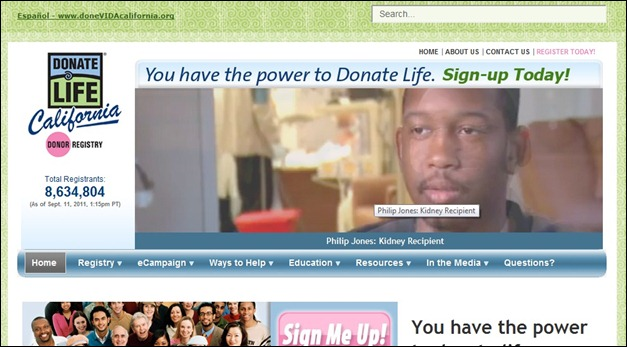 Donate Life California