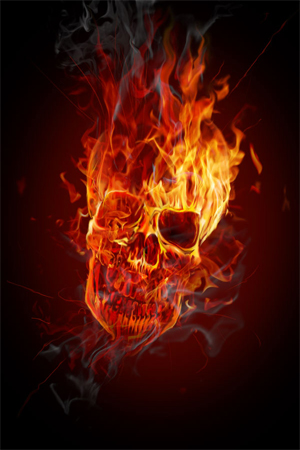 Ferocious skull effect