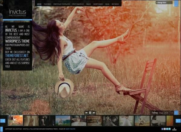 Invictus Premium Photographer Portfolio Theme