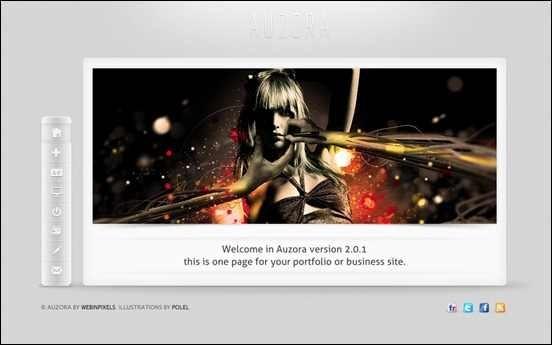 Auzora – One Page Portfolio and Business theme