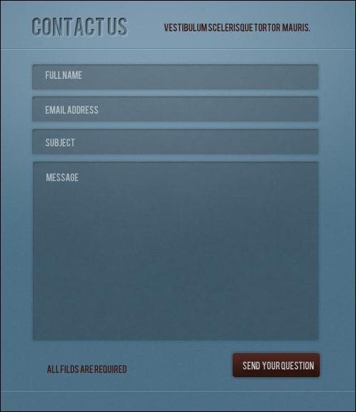 contact-form-psd-web-element