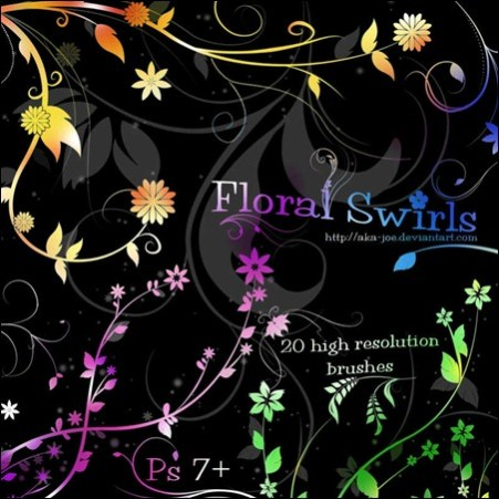floral-swirl-brushes