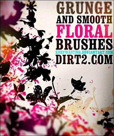 grunge-and-smooth-floral-brushes