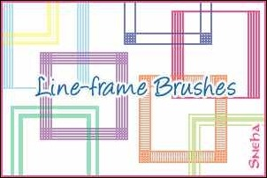line-frame-brushes