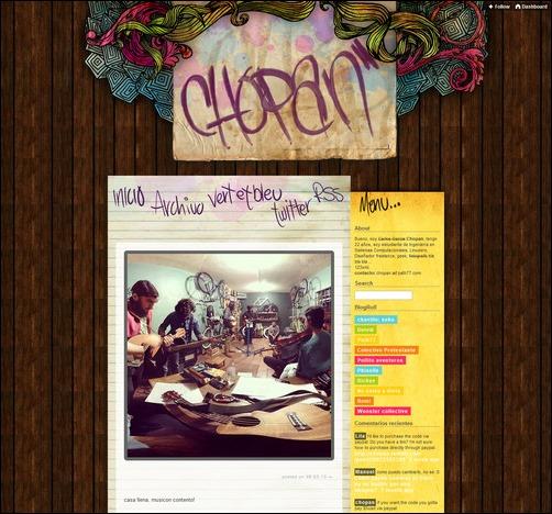 Chopan Creative Tumblr Blog Designs