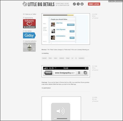 Little Big Details Creative Tumblr Blog Designs