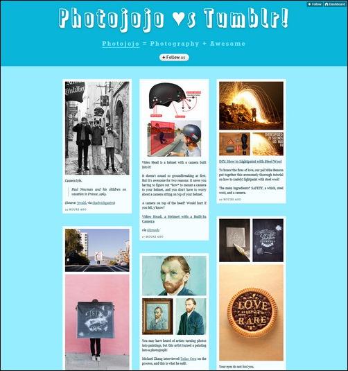Photojojo Creative Tumblr Blog Designs