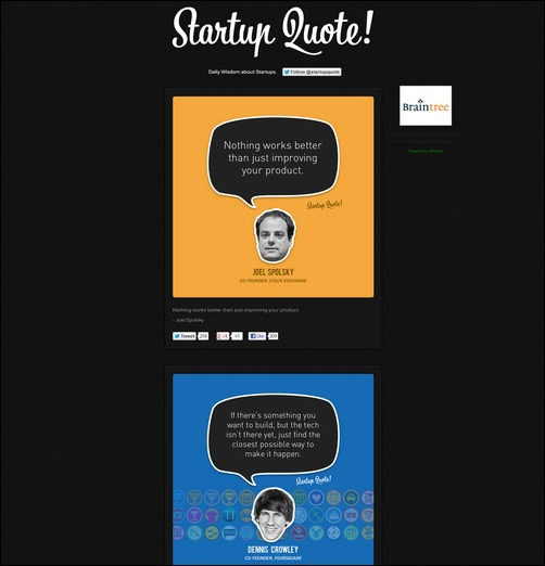 Startup Quote Creative Tumblr Blog Designs