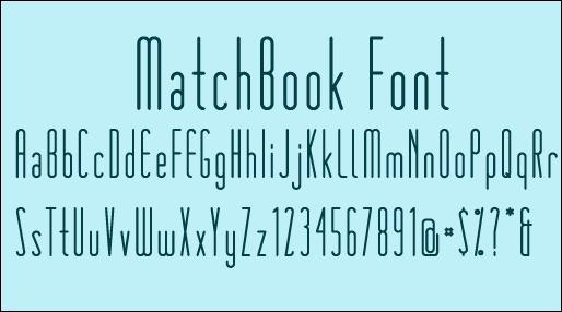 matchbook-font-