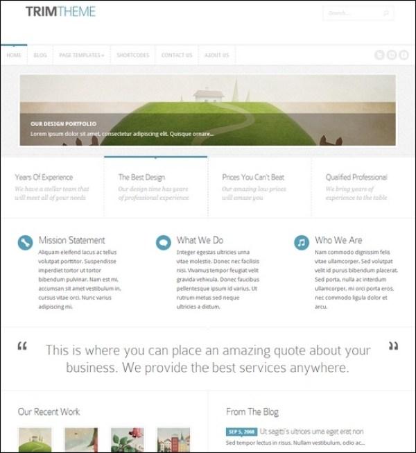 Trim Clean Portfolio WordPress Template