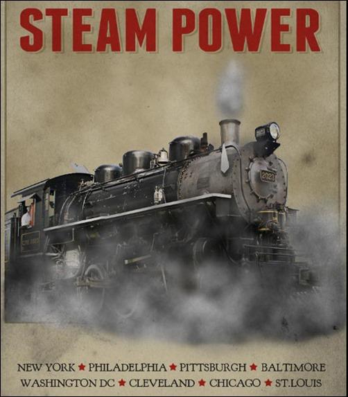 Create a Vintage Steam Locomotive Poster in Photoshop