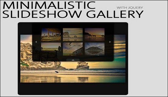 Here you see the Minimalistic Slideshow Gallery jQuery plugin. There is also a tutorial available to show you how it is implemented.