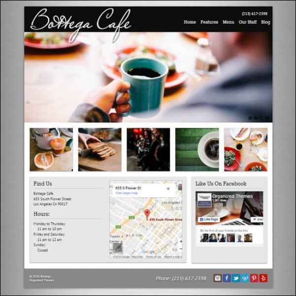 Bottega Theme for Restaurants